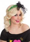 80s Neon Green Headband With Bow