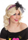 80s Neon Pink Headband With Bow