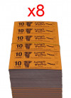BINGO: 10 Game - 1 Carton - 8 Packets
