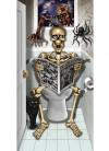 Skeleton Bathroom Door Cover