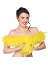 Feather Boa Bright Yellow 60g