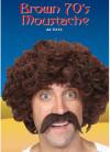 70s Moustache - Brown