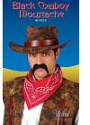 70s Moustache or Cowboy - Black