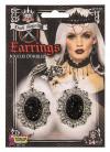 Dark Royalty Earrings - Black Stone