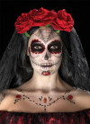Day of the Dead Face Tattoo Transfer Kit - Red