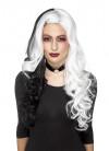 Evil-Madame White / Black Wig – Heat Resistant