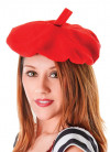 French Beret Bright Red - Elasticated Brim
