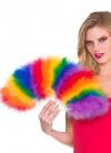 Gay Pride Rainbow Feather Fan