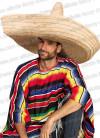 Natural Straw XXL Mexican Sombrero Hat - 81cm