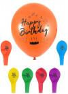 Happy Birthday Balloons 23cm - 12pk