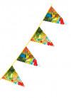 Large Hawaiian Triangular Plastic Bunting 6m