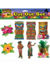 Hawaiian Luau Cut Outs – 8 pieces - 13cm Tall