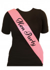 Hen Party Sash - Baby Pink (10 Pack)