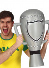 Inflatable Silver Football Trophy/Award - 60cm