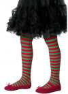 Kids Striped Tights - Red & Green - Age 8-12