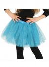 "Kids Turquoise Blue Glitter Tutu - Age 3-8 - Waist 16""-28"""