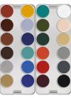 Kryolan Supracolor Palette – 24 K Colours