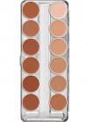 Kryolan Supracolor Palette - 12 W Colours