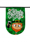 St Patrick's Day Bunting - 6m – 15 Large Rounded Flags 19x28cm