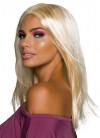 """Long Blonde 18"""" Wig no Fringe"""