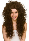 80s Long Curly Brown Perm Wig