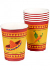 Mexican Fiesta Paper Cups 25cl – 6pk