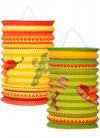 Mexican Fiesta Paper Lanterns 16cm - 2pk