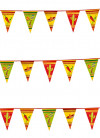 Mexican Fiesta Plastic Bunting 6m - Triangle