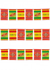 Mexican Fiesta Plastic Bunting 10m - Rectangle