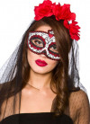 Day of the Dead Eye Mask (with veil)