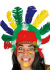 Indian Headdress With Multi-Colour Feather