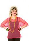 80s Mesh Top - Neon Pink