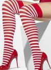 Red & White Striped Stockings - Waldo/Elf - Dress Size 6-14