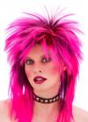 80s Pink Spiked Long Unisex Rocker Wig