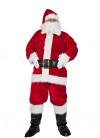 Plush Santa Suit Costume (8pcs) XL