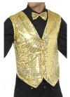 Sequin Waistcoat - Gold
