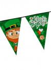 St. Patrick's Day - Large Triangular Plastic Bunting 8m