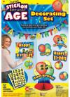 Happy Birthday - Stick on Age - Decorating Kit