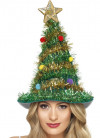 Christmas Tree Hat - Tinsel, Star and Baubles