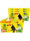 Tropical Toucan Large Paper Bowls 14cm - 4pk
