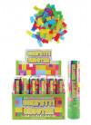 Small Multicoloured Confetti Cannon Small - 20cm - Biodegradable - x12
