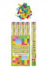 Large Multicoloured Confetti Cannon - 50cm - Biodegradable - x12