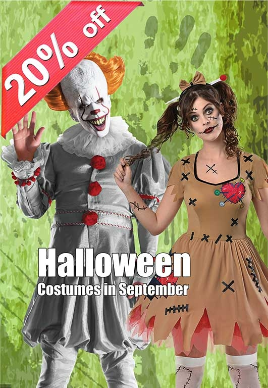 20% OFF All Halloween Costumes