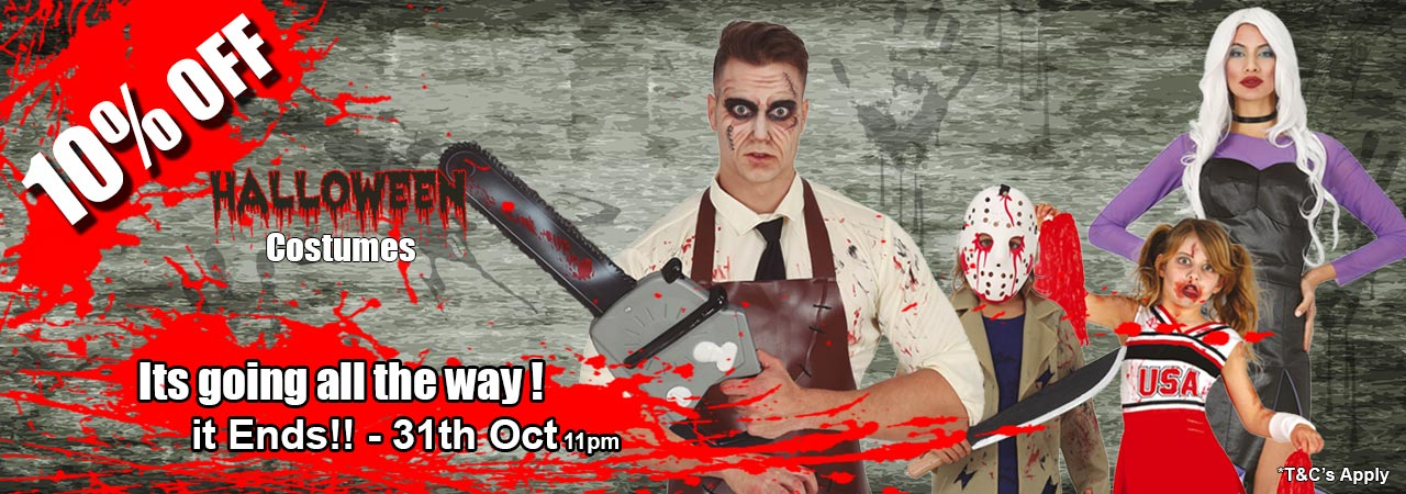 Halloween Early-Bird Special - 10% Percent Off Hallowen Costumes untill the 31st of October