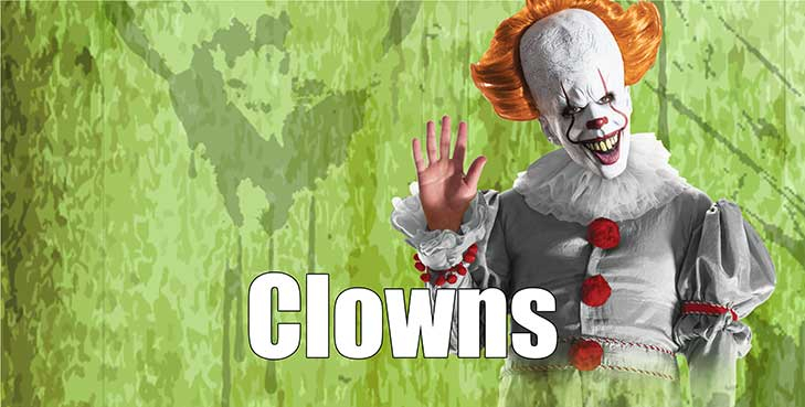 Halloween Clown Costumes & Acc