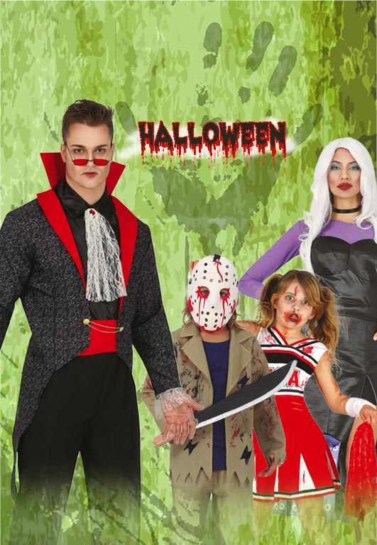 Kit out your Halloween costume with the must have accessories including Contact Lenses, Horns, Wings, Wigs, Weapons Hats, Gloves Jewellery, Masks and Makeup!