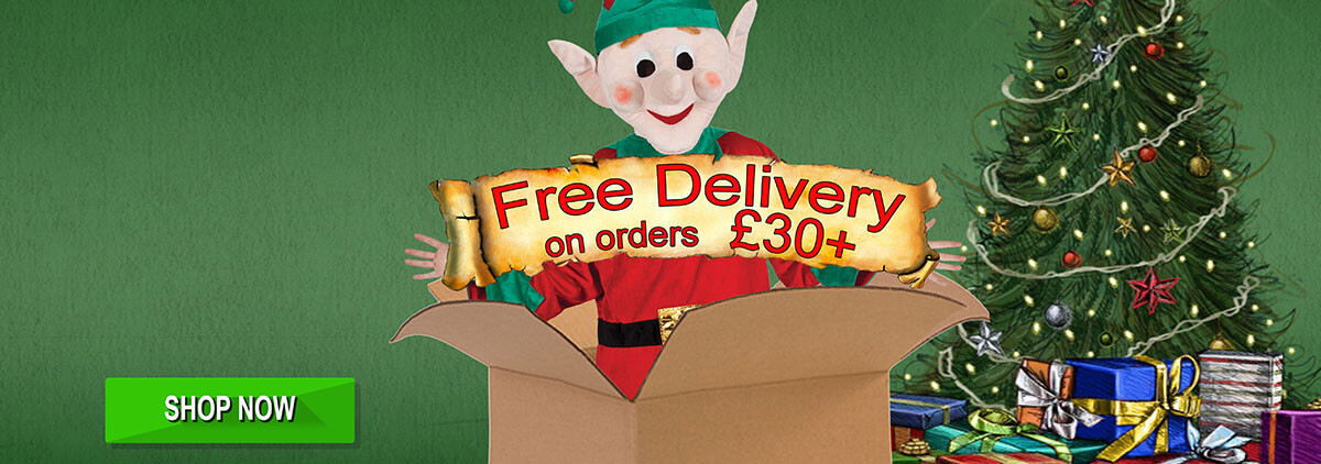 Free delivery with orders over £30 !