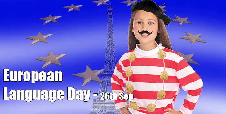 European Lanuage Day - Great Selection of Countries - Accessories & Costumes