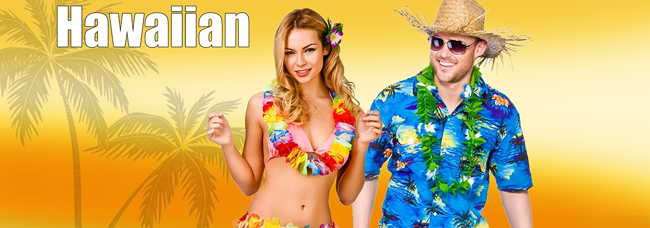 Hawaiian Beach Party - Bring on Summer! - Grass Skirts - Leis - Coconut Cups _Palm Trees