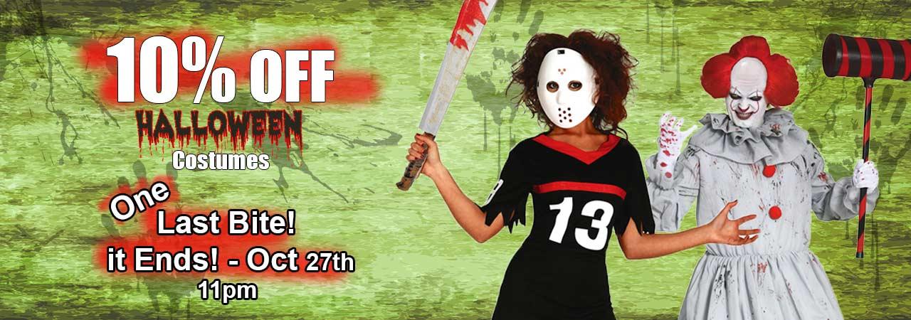 Halloween Early-Bird Special - 10% Percent Off Hallowen Costumes 2nd Week October